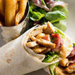 Chicken & Bacon Wrap with Handcut Chips